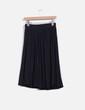 Falda midi negra de vuelo Zara