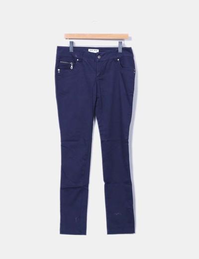 Pantalon bleu marine droit Vero Moda