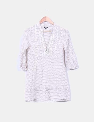 Blusa blanca estampada Suiteblanco