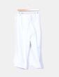 Pantalón capri lino blanco con rayas Tintoretto