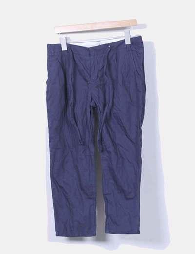 Pantalón azul marino Topshop