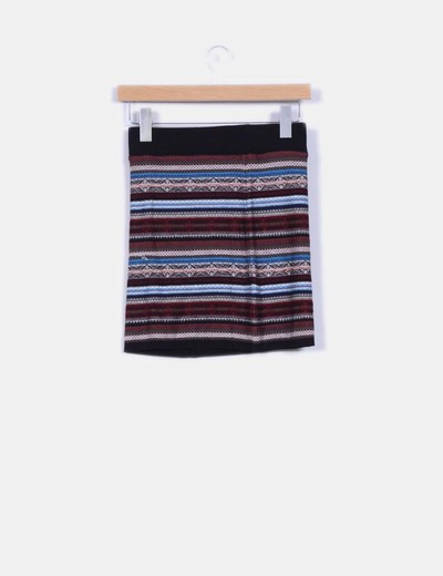 Falda mini etnica elastica