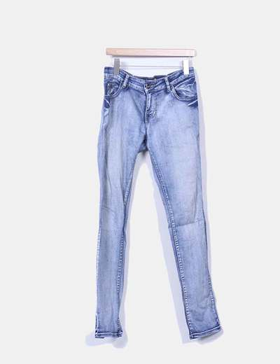 Jeans denim efecto deslavado Miss News