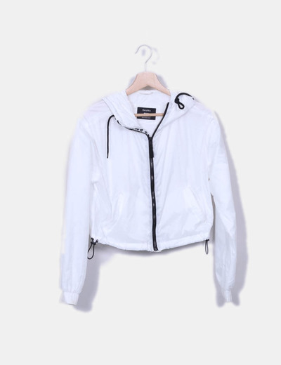 brillo de color comprar genuino gama exclusiva Cazadora blanca impermeable