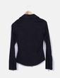 Camisa negra texturizada con cremallera M&S