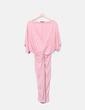 Pink knot dress with beak neckline SheIn