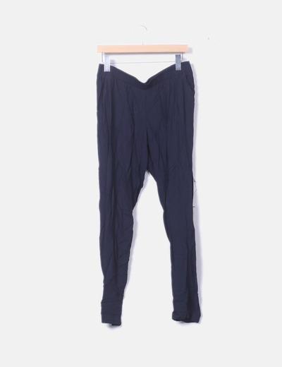 Pantalón fluido azul marino