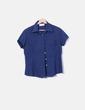 Camisa azul marina de manga corta Forestal