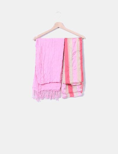 Pack 2 pañuelos en tonos rosas