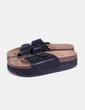 Sandales plate noires -forme Primark