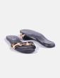 Sandalia plana piel efecto leopardo MAS34