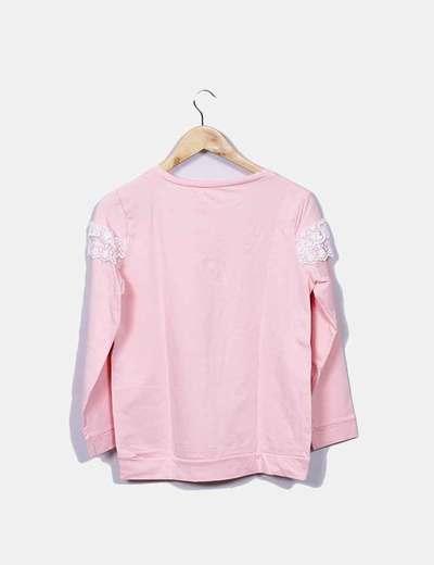 Sudadera rosa combinada