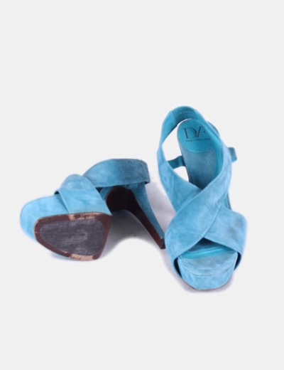 Sandalias serraje turquesa