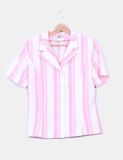 Camisa estampado rayas, detalle hombreras Arych