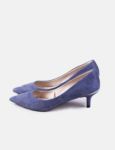 Zapato azul antelina Zara