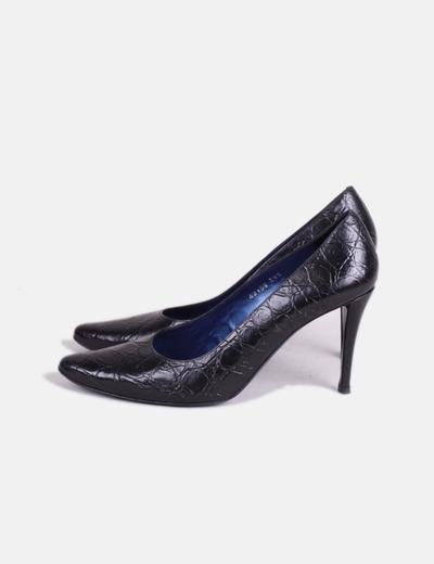 Zapato negro de puntera Farrutx