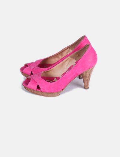 Zapato fucsia peep toe NoName