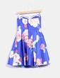 Vestido azul floral con tul Fórmula Joven