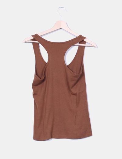 Camiseta espalda nadadora marron