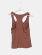 Camiseta espalda nadadora marrón Stradivarius