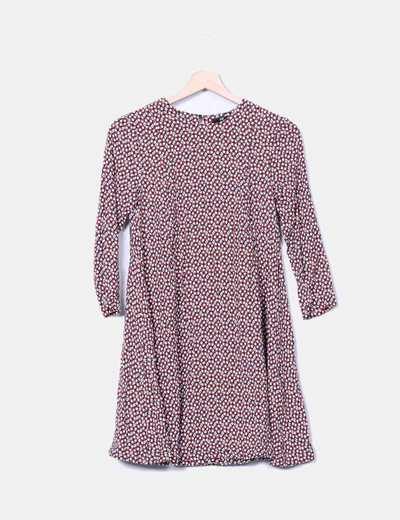 Vestido print manga larga H&M
