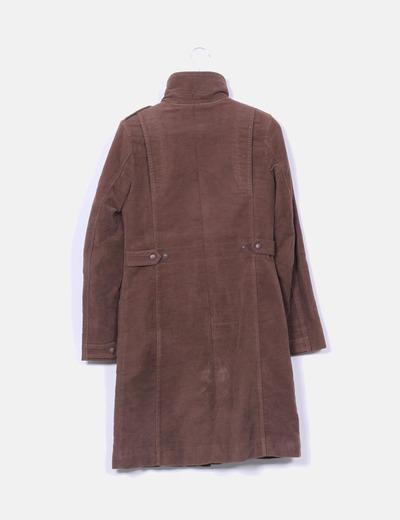Abrigo largo marron forro con pelo