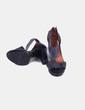 Sandalia azul oscura tacón grueso Mustang