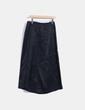 Falda larga negra con rayas diplomáticas Liberty Fashion