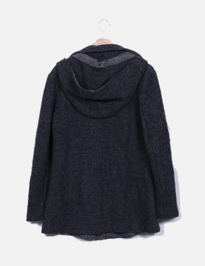 Trenca gris oscura de lana