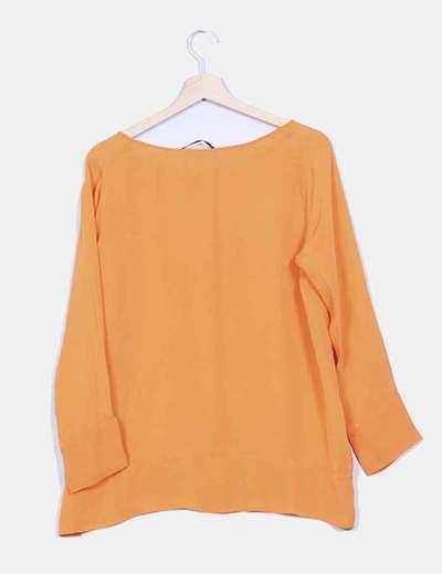 Blusa fluida naranja