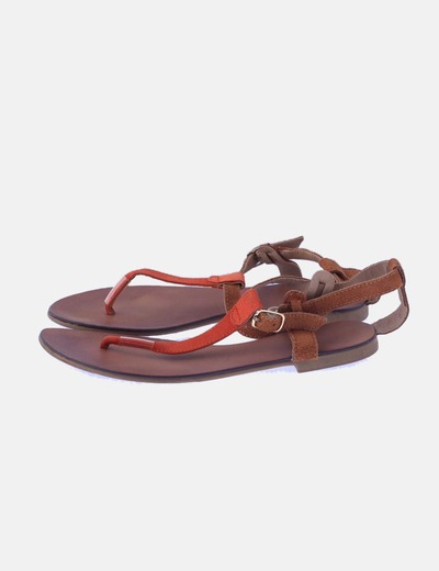 Sandalia marrón antelina