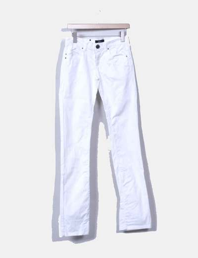 Pantalón denim pitillo blanco Phard