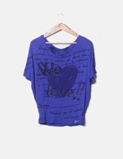 Camiseta azulprint Desigual