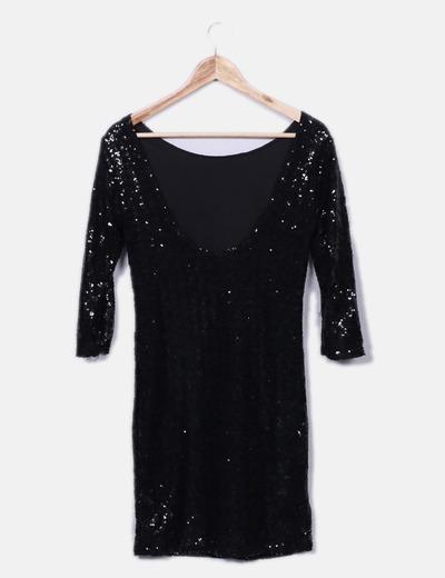 Vestido negro de lentejuelas