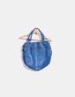 Bolso shopper polipiel azul Koima