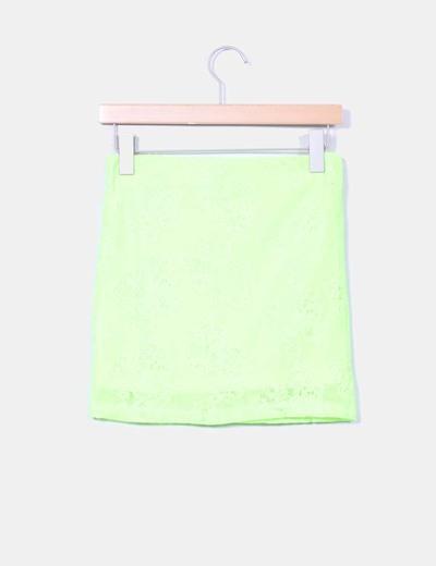 Mini falda elastica amarillo fluor