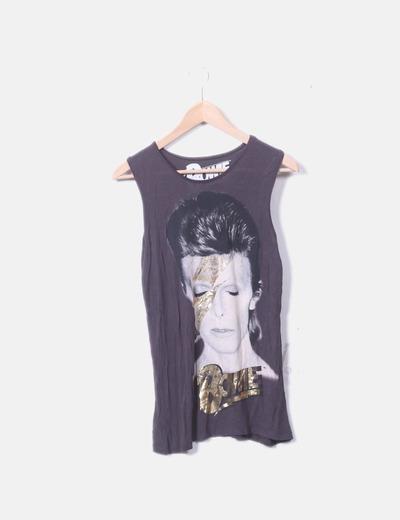 Camiseta gris Bowie