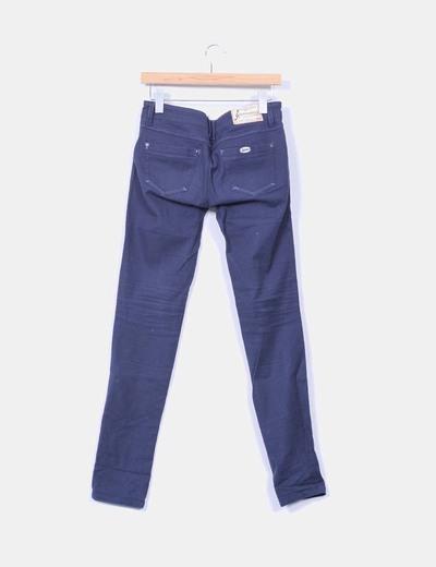 Pantalon denim azul marino