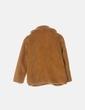 Abrigo mostaza de pelo Made in Italy