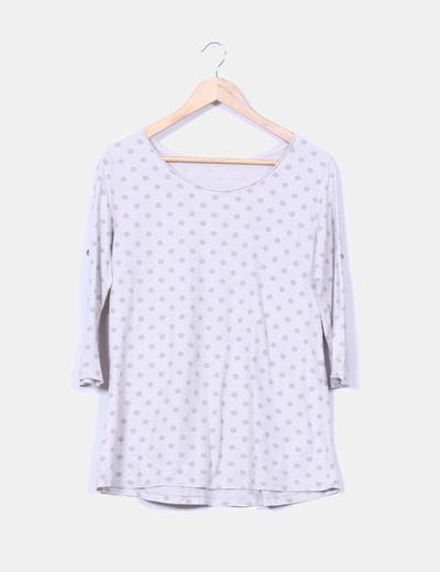 Camiseta gris de topos NoName