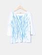 Camiseta blanca estampado turquesa glitter Elena Miró
