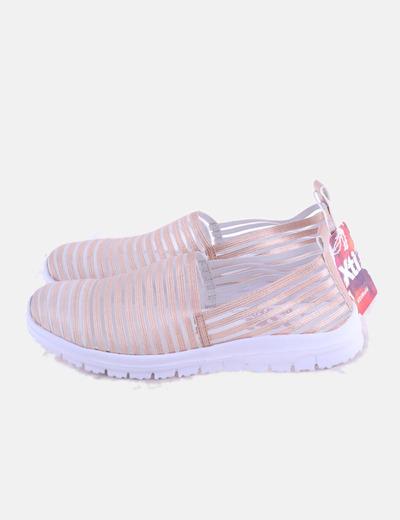 Sneaker rosa elástica