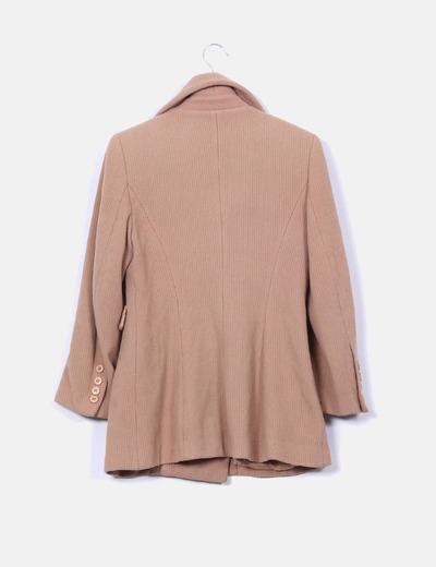 Abrigo de lana camel texturizado