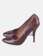 Zapato de tacón marrón Uterqüe