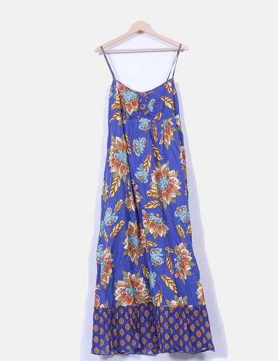 Vestido azul estampado Antea