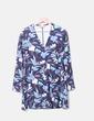 Vestido azul marino estampado retro Zara