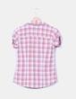 Camisa de cuadros manga corta Pimkie