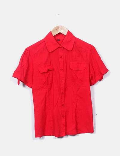 Camisa manga corta rojo