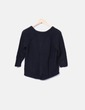 Jersey tricot negro manga francesa espalda cruzada VILA