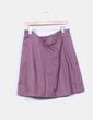Falda midi marrón Zara